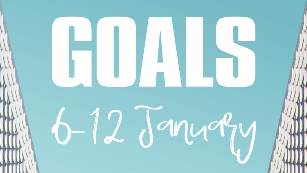 Goals 6-12 January - image by Simone Hutsch on Unsplash