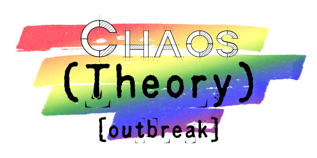 "Rainbow gradient with the overlaid text ""Chaos (Theory): [outbreak]"""